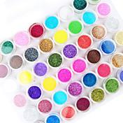 45pcs color de la mezcla del arte del clavo polvo de acrílico decoración del arte del clavo