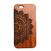 iphone 7プラス木材幸運の花の彫刻凹凸凸ハードバックiphone 6S 6カバープラスSE 5秒5