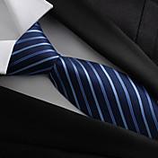 Hombre Todas las Temporadas Vintage Fiesta Trabajo Poliéster Corbata Azul Marino