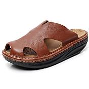 Hombre-Tacón Plano-Confort-Sandalias-Exterior Informal-Cuero-