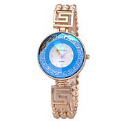 Mujer Reloj de Moda Reloj Pulsera Cuarzo Reloj Casual Aleación Banda Elegantes Plata Dorado