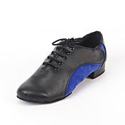 Hombre / Mujer Zapatos de Baile Latino / Zapatos de Jazz / Zapatillas de Baile Cuero Zapatilla Tacón Cuadrado Personalizables Zapatos de