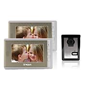"""tmax® 7 """"lcd fotografiar videoportero con 500TVL cámara de visión nocturna (1camera a 2monitors)"""