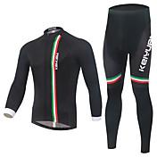 KEIYUEM Maillot de Ciclismo con Mallas Unisex Manga Larga Bicicleta Sets de Prendas Mantiene abrigado Secado rápido Listo para vestir