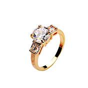 ステートメントリング ジルコン キュービックジルコニア ファッション ゴールド シルバー ブラウン-ゴールド ジュエリー 結婚式 パーティー 日常 カジュアル 1個