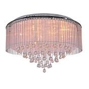 Lámpara Chandelier Moderna de Cristal de Tela con 8 Bombillas - KRAICHTAL