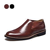 Hombre Zapatos Cuero Primavera Otoño Invierno Para Casual Fiesta y Noche Negro Marrón