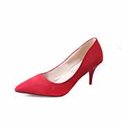 Mujer Zapatos Ante Primavera / Verano Tacones Paseo Tacón Stiletto Gris / Rojo / Color Camello / Boda / Fiesta y Noche / Vestido