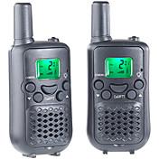 T899C Walkie Talkie 0.5W 8 Channels 400-470MHz AAA alkaline battery 3KM-5KMVOX / Cifrado / Pantalla LCD / Monitor / Escanear /