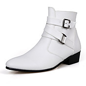 Hombre PU Otoño / Invierno Confort Botas Antideslizante Blanco / Negro / Marrón