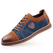 メンズ 靴 レザー 春 夏 秋 冬 コンフォートシューズ オックスフォードシューズ 編み上げ 用途 カジュアル グレー Brown