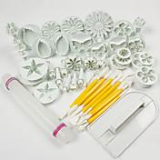 1 Set Of 46 Pcs 高品質 / ケーキのデコレーション / ベーキングツール / ファッション / DIY ケーキ / クッキー / チョコレート / Cupcake ABS樹脂 ペストリー用具