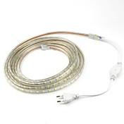 5m / 1pcs 20w 220v 5050 ledフレキシブルテープロープストリップライトクリスマス屋外防水庭屋外照明栓ヨーロッパ