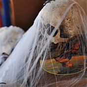 ハロウィーンパーティーの装飾バーシーンの小道具に人気の面白いプラスチック蜘蛛の巣の綿