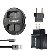 USBアダプタのプラグパワーを持つニコンのバッテリーとニコンD7000のd7100 / 1V1 / D600 / D600E / D600用kingmaデュアルUSB充電器