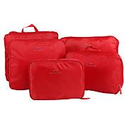 5セット 旅行かばん 旅行かばんオーガナイザー パッキングキューブ 携帯用 折り畳み式 小物収納用バッグ クロス ナイロン トラベル