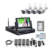 7インチ液晶/ 2TB監視HDDキットと960p /赤外線/防水やNVRとstrongshine®ワイヤレスIPカメラ