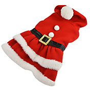 犬 コスチューム ドレス 犬用ウェア コスプレ クリスマス 純色 レッド コスチューム ペット用