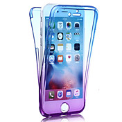 Para iPhone 8 iPhone 8 Plus iPhone 7 iPhone 7 Plus iPhone 6 Carcasa Funda Antigolpes Cuerpo Entero Funda Gradiente de Color Suave TPU para
