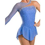 Vestido de patinaje artístico Mujer Niños Chica Patinaje Sobre Hielo Vestidos Pedrería Encaje Alta elasticidad Rendimiento Ropa de