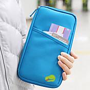 旅行用ウォレット パスポート&IDホルダー 旅行用パスポートウォレット クレジットカード・プロテクター 防水 携帯用 防塵 小物収納用バッグ 多機能 のために クロス ファブリック / ソリッド トラベル