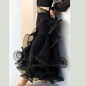 私たちはボールミルダンスのボトムス女性のパフォーマンスドレープスカート
