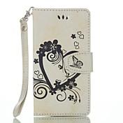 Para wiko lenny 3 lenny 2 cartera de cuero en relieve de corazón completo