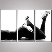 手描きの 静物画 横式, 近代の リアリズム キャンバス プリント ホームデコレーション 3枚