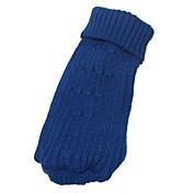 ネコ 犬 セーター 犬用ウェア アクリル繊維 冬 ファッション ジオメトリック ダークブルー ピンク ペット用