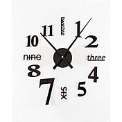 diy reloj de pared mudo de metal acrílico moderno simple ultra grande de la moda