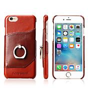 用途 iPhone X iPhone 8 iPhone 8 Plus iPhone 7 iPhone 7 Plus iPhone 6 ケース カバー バンカーリング バックカバー ケース 純色 ハード 本革 のために Apple iPhone X iPhone 8 Plus