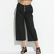 Mujer Vintage Microelástico Perneras anchas Vaqueros Pantalones,Un Color Algodón Primavera Otoño