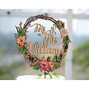 ケーキトッパー あり 夫妻 カード用紙 結婚式 記念日 ブライダルシャワー イエロー ガーデンテーマ フローラルテーマ クラシックテーマ ヴィンテージテーマ 1 ポリバッグ