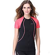 Dive&Sail Mujer 1,5 mm Dive Skins Traje de neopreno corto Impermeable Mantiene abrigado Secado rápido Resistente a los UV Listo para