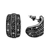Peckové náušnice Kubický zirkon imitace Diamond Slitina Prohlášení o šperky minimalistický styl Módní Černá Šperky Denní Ležérní 1 pár