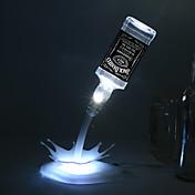 DIY lámpara de tabla llevada novedad casa romántica verter USB de la batería recargable luz de la noche del USB llevó la luz de la noche