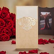 三つ折り 結婚式の招待状-招待状カード アーティスティック ビンテージ フローラル 花のスタイル カード用紙