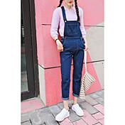 Mujer Moderno y Chic Tiro Medio strenchy Ajustado Pantalones,Lápices Color sólido Color puro