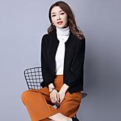 春と秋の韓国人女性緩いニットカーディガンのセーターの気質の秋と冬のコートの女性の短い段落の看板