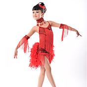 Debemos los vestidos latinos de la danza el funcionamiento de los niños vestido de 5 pedazos