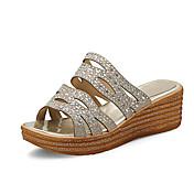 Mujer Sandalias Confort Zapatos del club Purpurina Materiales Personalizados Primavera Verano Otoño Boda Vestido Fiesta y NocheConfort