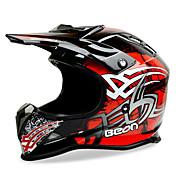beon cara completa casco de la motocicleta casco abs velocidad motorsport negro / casco de color rojo