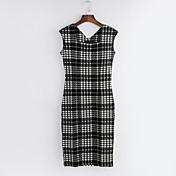 WOMEN - セクシー/カジュアル/パーティー - ドレス ( コットンブレンド ラウンド - 半袖