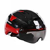 MOON バイク ヘルメット CE Certification サイクリング 16 通気孔 調整可 ワンピース 都市 グーグルとのヘルメット 超軽量(UL) 青少年 男性用 女性用 男女兼用 EVA マウンテンサイクリング ロードバイク レクリエーションサイクリング