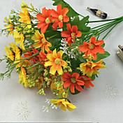 34.5センチメートル長、高品質で鮮やかな色バンチあたり28頭の小さなデイジー造花