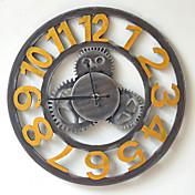 伝統風 田園風 レトロ風 休暇 音楽 家族 壁時計,円形 ウッド 40*40 屋内/屋外 屋内 クロック