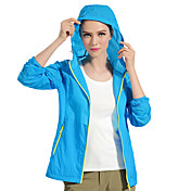 PELLIOT Mujer Chubasquero Al aire libre Impermeable Secado rápido Resistente al Viento Resistente a los UV Listo para vestir Transpirable