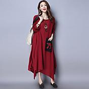2017春新しい国の風レトロ綿の不規則な大きなスカートのドレスの衣