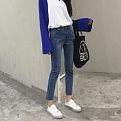 古いスリムを行うために2017符号韓国は縁取りの女性の足のズボンの薄いストレッチデニム鉛筆のズボンでした