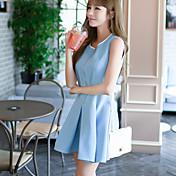 El tutú fresco de la estrella del verano de las señoras de la estrella pequeña versión coreana fresca del tutú delgado era vestido fino